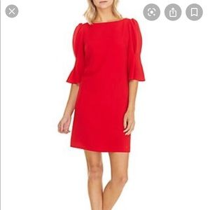 Vince Camuto Textured Crepe Shift Dress💋